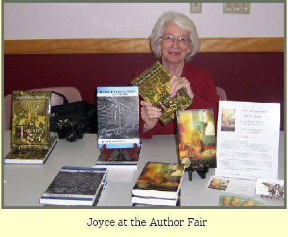 Joyce at the author fair