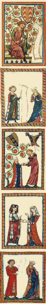 details from the Codex Manesse image 1